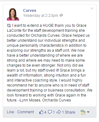 Orchards Curves testimonial