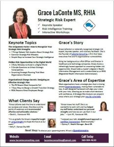 Speaker One Sheet Grace LaConte