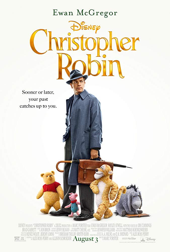 Winnie the Pooh, Christopher Robin, Tigger, Piglet, Eeyore, movie poster, Disney, Ewan McGregor
