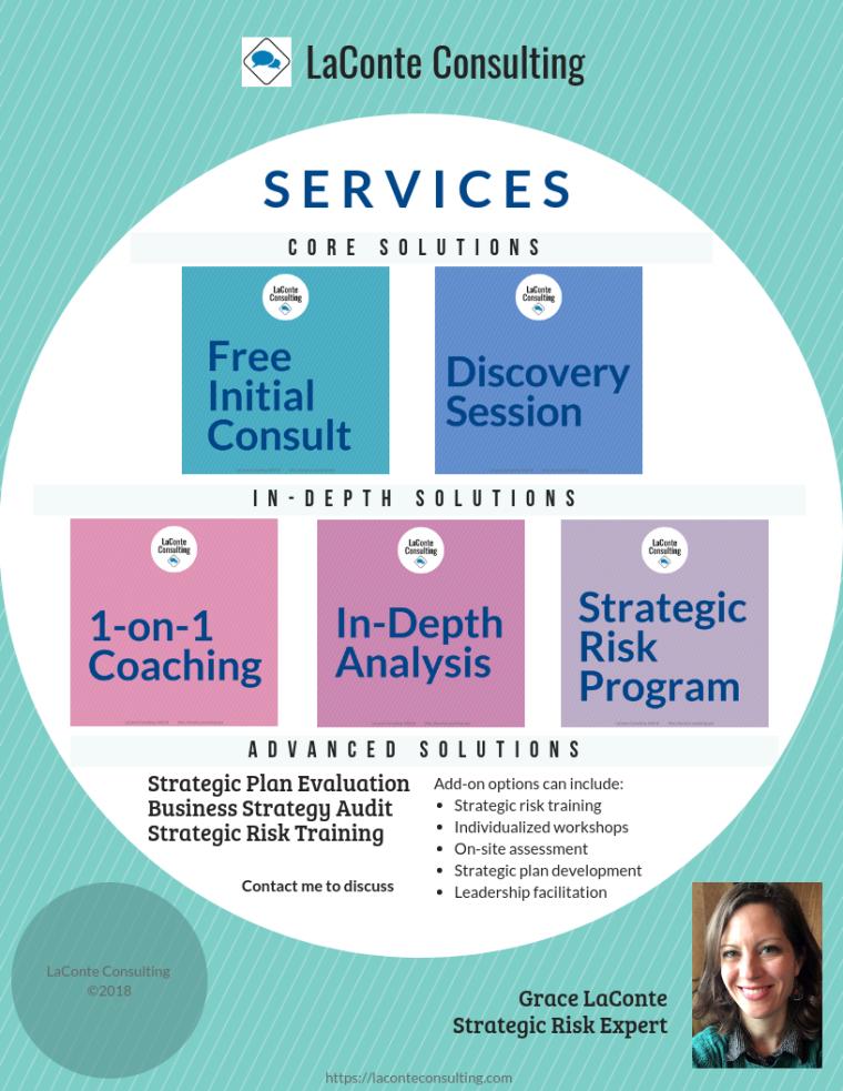 LaConte Consulting, LaConte Consulting services, strategic risk, strategic risk expert, Grace LaConte, Grace LaConte MS RHIA