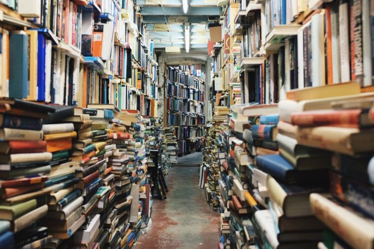 books, piles of books, book overload, library, book piles, bookstore, book hoard, minimalist, minimalism