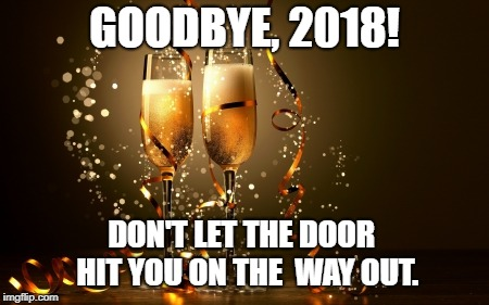 goodbye 2018, goodbye year, don't let the door hit you, year end, year end review, bad year, negative year, good year, strategic risk